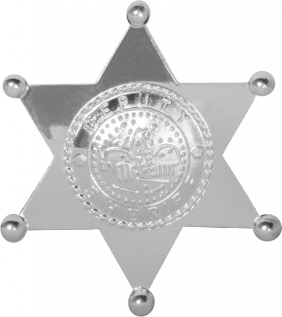 Sheriff badge ster zilver