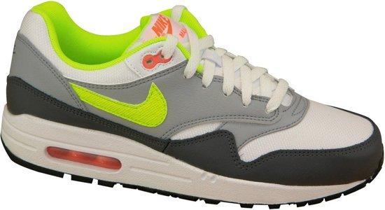 128f8ee9199 bol.com | Nike Air Max 1 GS - Sneakers - Wit/Blauw/Oranje - Kinderen ...