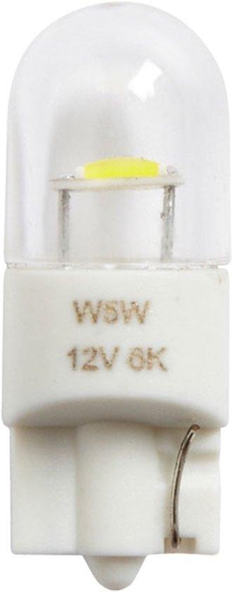 Ring Autolampen T10 Led 12 Volt 0,5 Watt Wit 2 Stuks