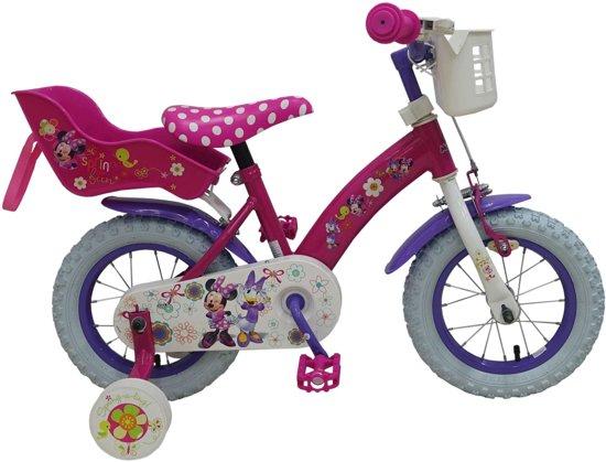 Disney Minnie Bow-Tique Kinderfiets - Meisjes - 12 inch - Roze