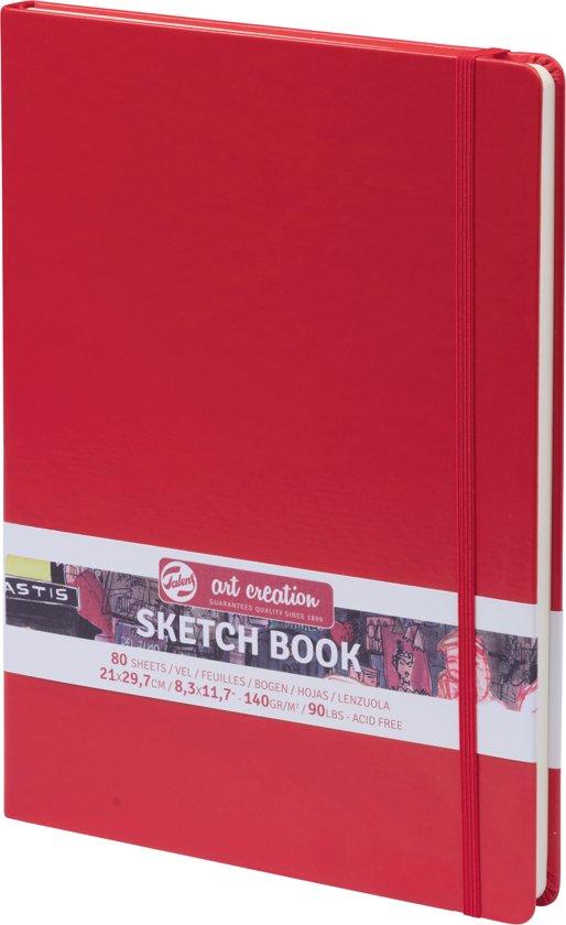 Talens Art Creation schetsboek - rood - gebonden - wit papier