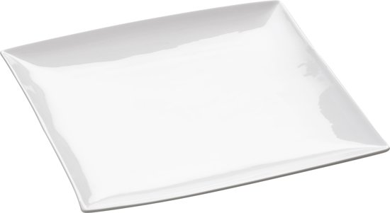 Maxwell & Williams East Meets West Dinerbord - 26 x 26,5 x 2,5 cm - Wit