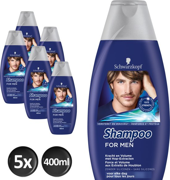 Schwarzkopf Shampoo For Men Voordeelverpakking - 5 x 400ml