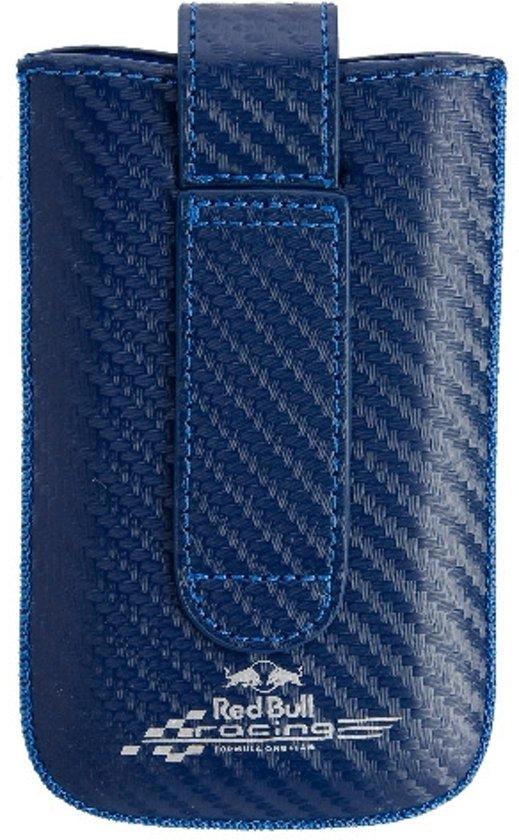 Red Bull Racing hoesje blauw + wit logo Apple iPhone 4 en soortgelijke telefoons