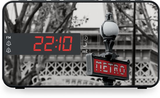 Bigben RR15METRO Wekkerradio met LED Display - Parijs Metro in Schuilenburg