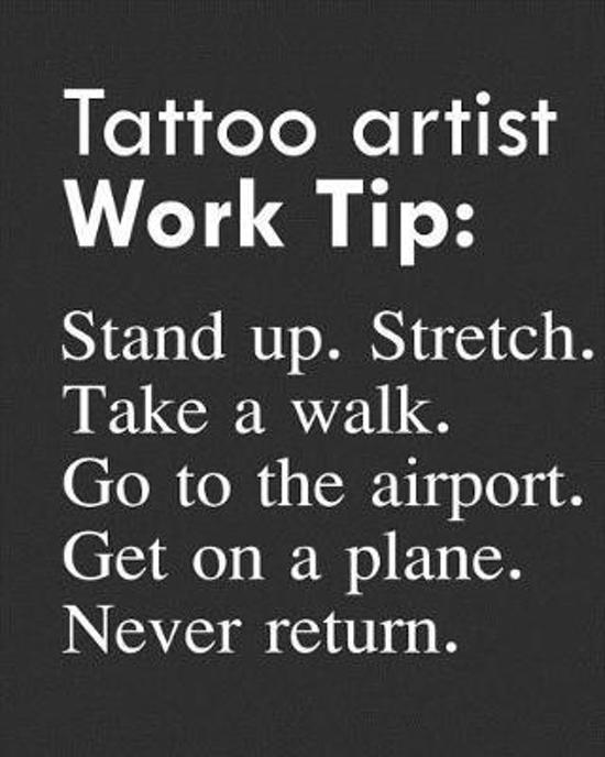 Tattoo Artist Work Tip