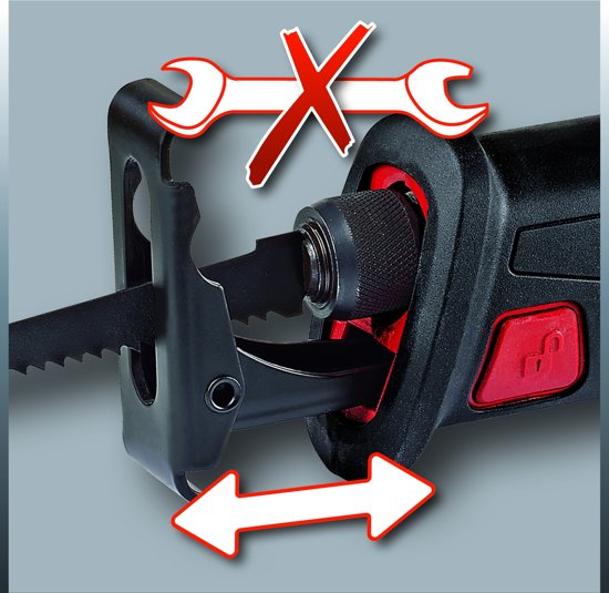 EINHELL Accu Reciprozaag TE-AP 18 Li Solo - Power-X-Change - 18 V - Slaghoogte: 22 mm - Zonder accu & lader