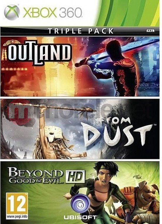 XBox-360-Triple Pack-Outland-From-Dust-Beyond Good&Evil-HD