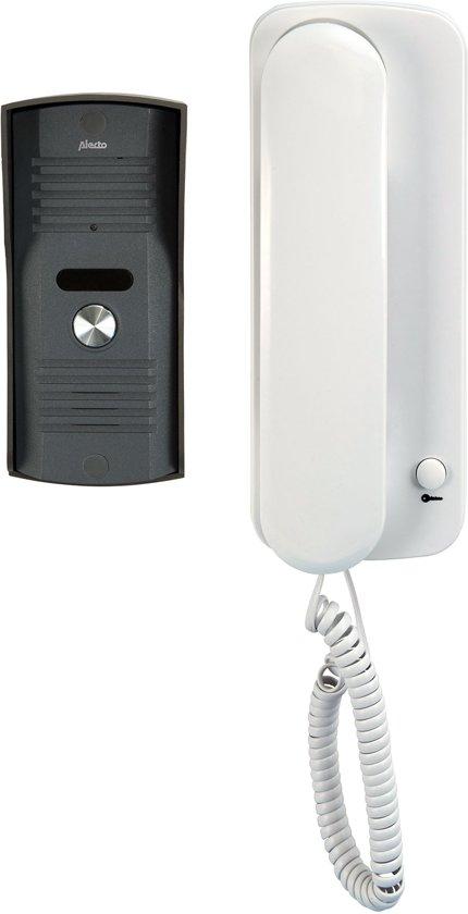 Alecto DP-60 Audio deurintercom | Veilig op afstand horen wie voor de deur staat | Wit / Antraciet