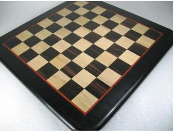 Afbeelding van het spel Schaakbord Ebbenhout, 45 mm vlakken