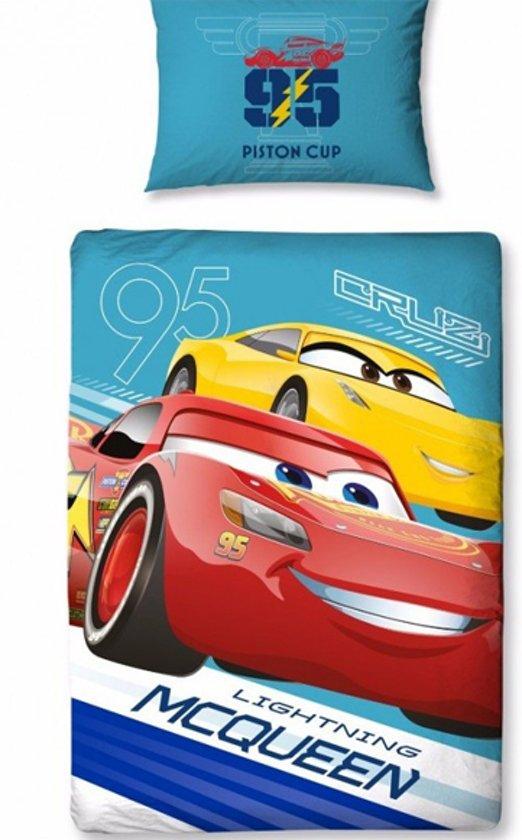 Disney Cars 3 lightning - Dekbedovertrek - Eenpersoons - 120 x 150 cm - Multi