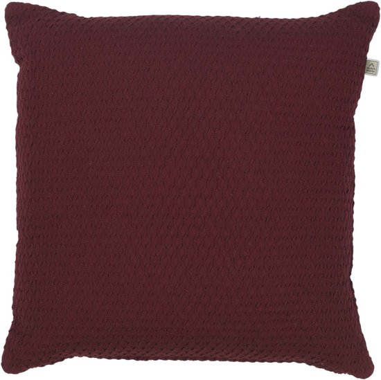 Dutch Decor Kussenhoes Fixa 45x45 cm bordeaux