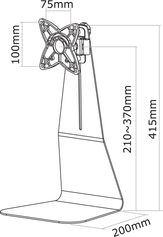 NewStar Bureausteun FPMA-D800 Zilver