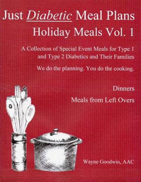Bol Just Diabetic Meal Plans Holiday Meals Vol 1 Wayne