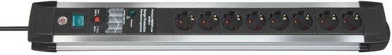 Brennenstuhl Premium-Protect-Line 8AC outlet(s) 3m Zwart, Grijs power uitbreiding