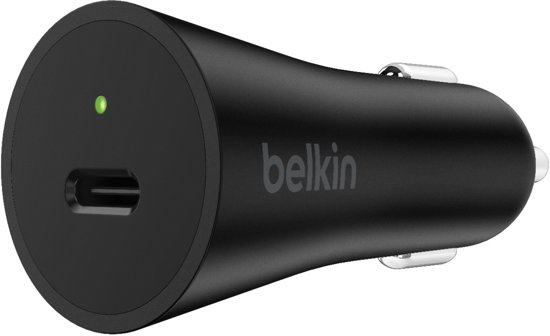 Belkin autolader 27W USB-C Power Delivery - zwart