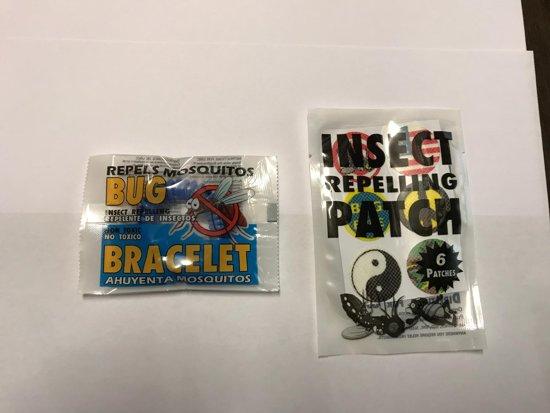 Anti muggen armband en stickers - combinatie - 6 armbandjes en 30 stickers - muggen verjager DEET vrij en non toxic