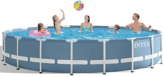 Intex Prism Frame Opzetzwembad Met Accessoires 549 X 122 Cm Blauw