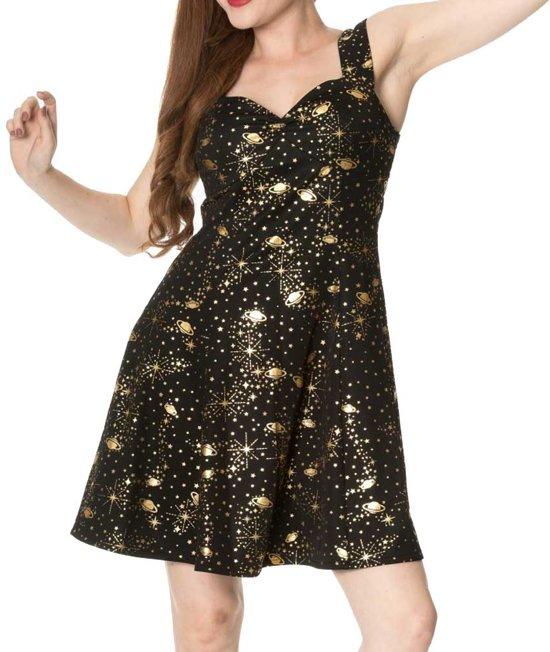 jurk zwart goud