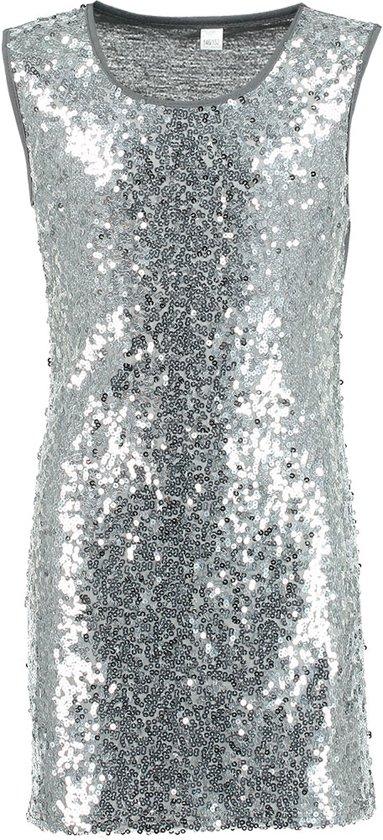 Zeeman - Meisjes jurk - zilver - maat 134/140