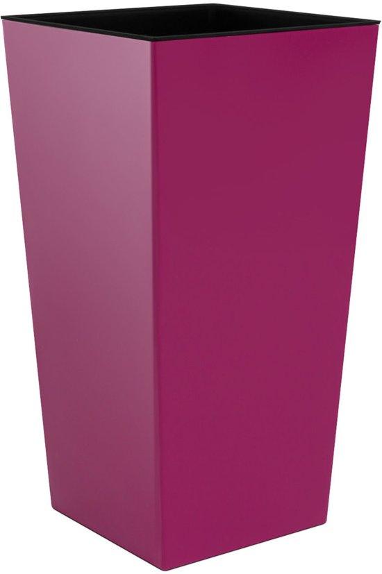 Bloempot Hoog Vierkant Urbi Square Shine 33x33x61cm FUCHSIA Prosperplast