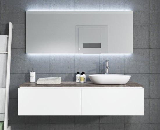 Bol.com badplaats badkamermeubel loretto 150cm met led spiegel wit