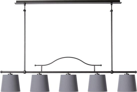Hanglamp 5 Lampen : Bol lucide helma hanglamp lichts metaal grijs