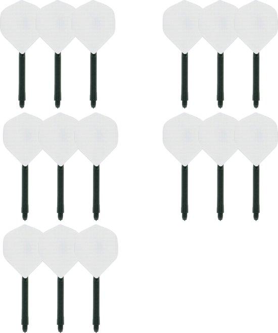 deDartshop 5 Twin Packs Shafts + Flights Multipack - Zwart Wit