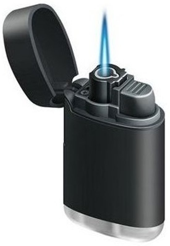 Torch turbo aansteker navulbaar zwart