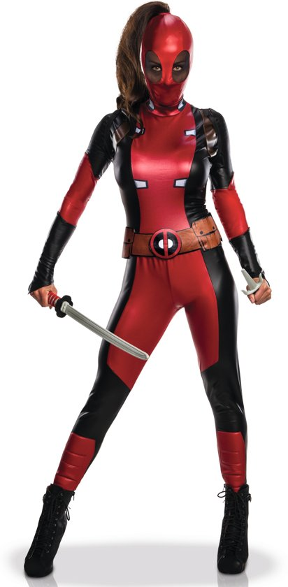 Sexy Deadpool™ kostuum voor vrouwen - Volwassenen kostuums