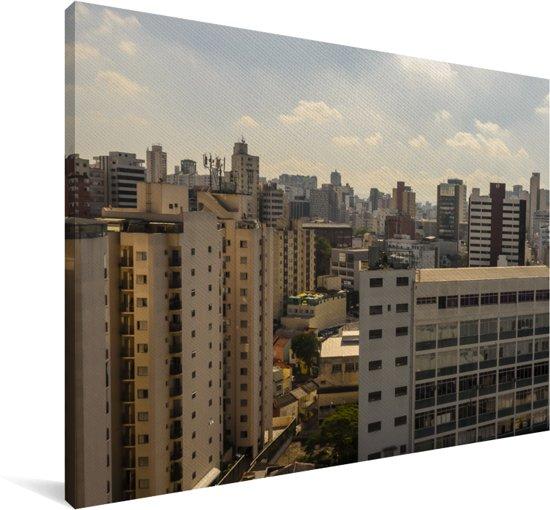 Skyline van Brasília in het Zuid-Amerikaanse Brazilië Canvas 90x60 cm - Foto print op Canvas schilderij (Wanddecoratie woonkamer / slaapkamer)