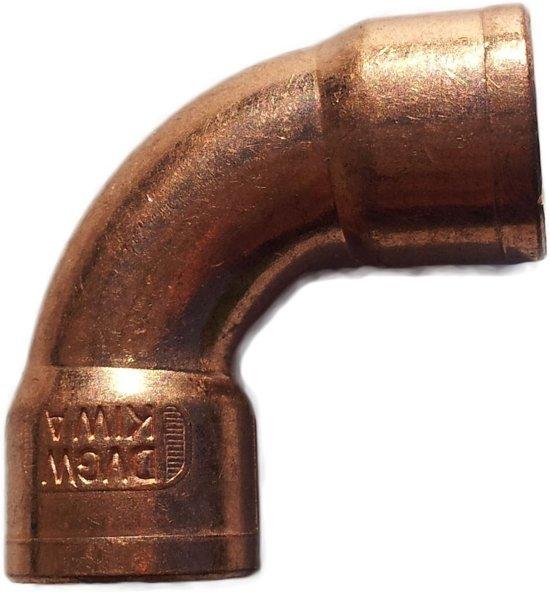 Viega soldeer roodkoper - knie 90 gr. - 28 x 28 mm