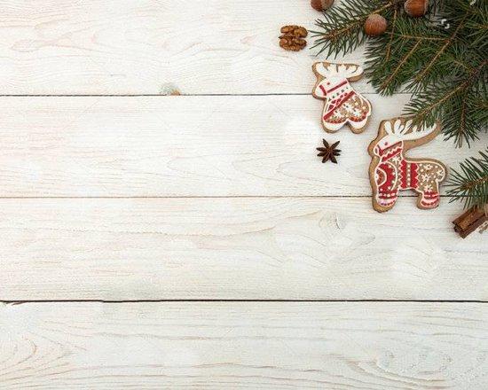 Kerst Vinyl Placemat | Timber wit Denetak | 6 stuks (1 gratis)