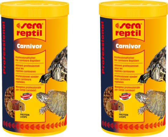 Sera reptielenvoer schildpadvoer carnivor 250ml per 2 verpakkingen
