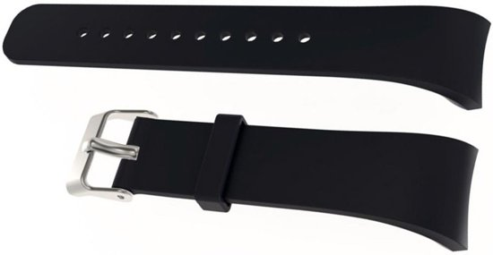 Siliconen Horloge Band Voor Samsung Gear Fit 2 Pro - Armband / Polsband / Strap Bandje / Sportband - Zwart