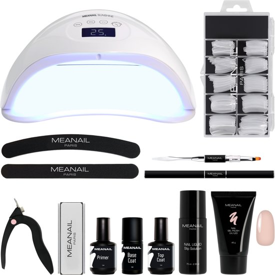 MEANAIL® Kit POLYGEL – UV Lamp Led 48W – Gelnagellak
