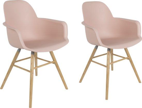Bol zuiver albert kuip stoel met armleuning roze set van