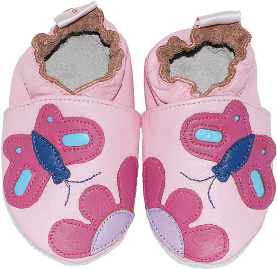 BabySteps slofjes Pink butterfly extra extra large