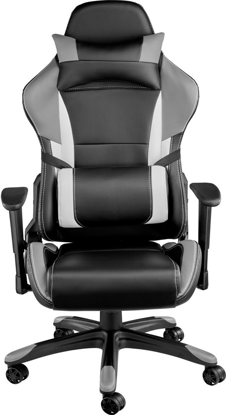 TecTake Trinity Premium Bureaustoel - Racing style - Zwart, grijs - 402292
