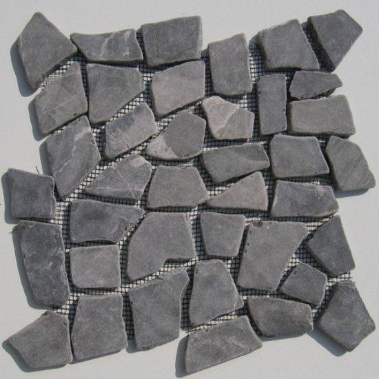 Mozaiek Tegels Tuin.Bol Com Mozaiek Tegels Riverstones Grey Marmer Op Matjes Van