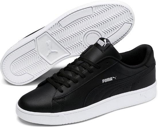 Puma Sneakers Court Breaker 44 Derby UnisexBlackSilver White 5 Maat L wTOkXuPiZ