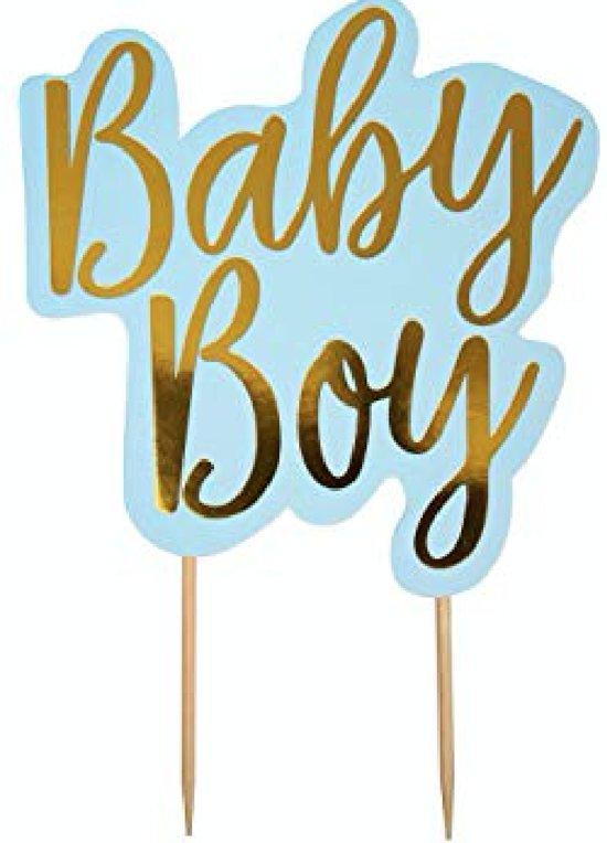 Taarttopper babyboy - blauw