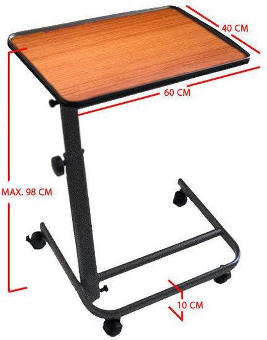 Ongebruikt bol.com | Stevige bedtafel - medische tafel - 60x40x65 cm KW-89