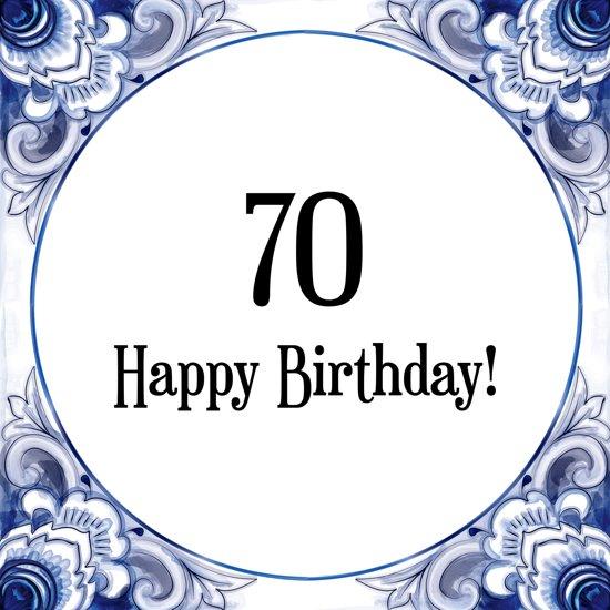 Bekend bol.com | Verjaardag Tegeltje met Spreuk (70 jaar: Happy birthday  @MW-35