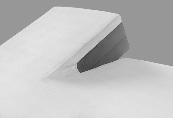 Sleepp - Splittopper hoeslaken jersey katoen - Wit - 180 x 200/210/220 + 10cm