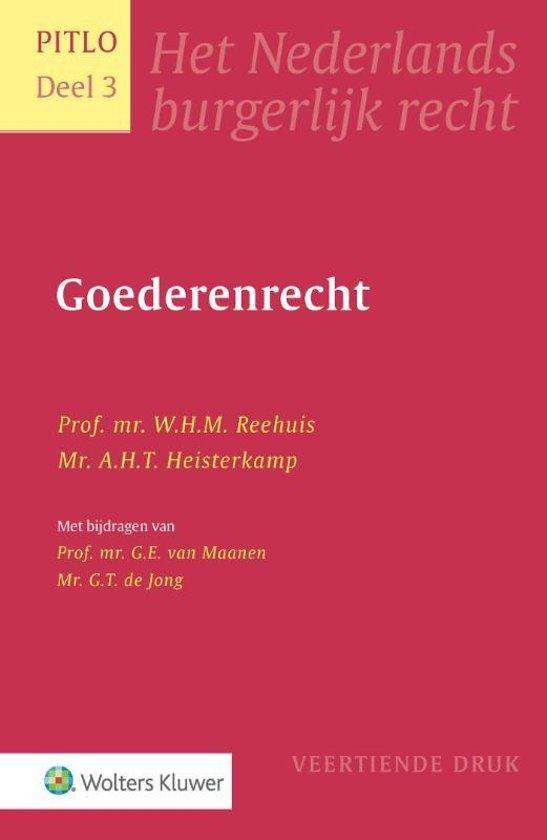 Boek cover Goederenrecht van W.H.M. Reehuis (Hardcover)