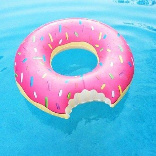 Bol Com Grote Opblaasbare Roze Donut Zwemband 118 Cm