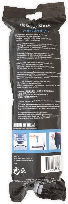 PerfectFit afvalzak met trekbandsluiting code O, 30 liter, 20 stuks/rol