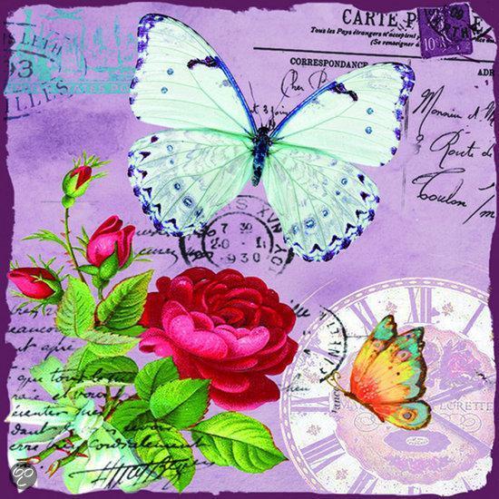 bol.com   Tuinposter Butterfly met verlichting met 5 led lampjes ...