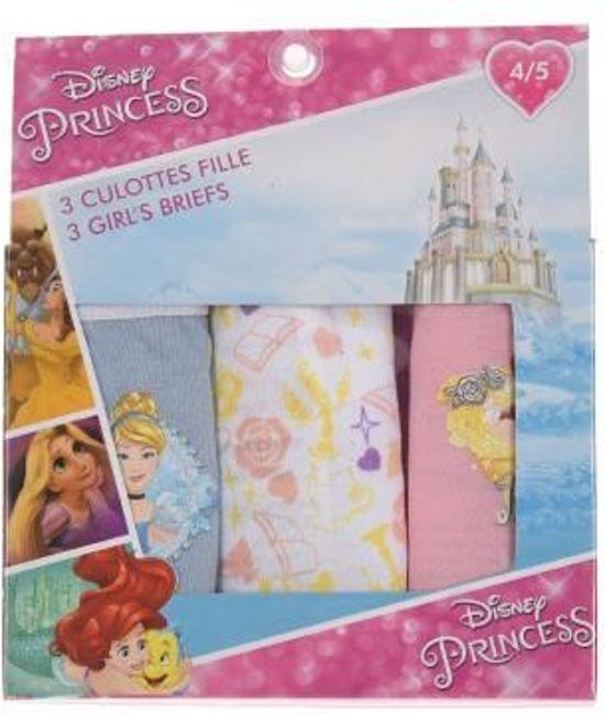 d824c8cf001199 Set van 3 Disney Prinsessen onderbroeken maat 104/110, roze-wit-blauw